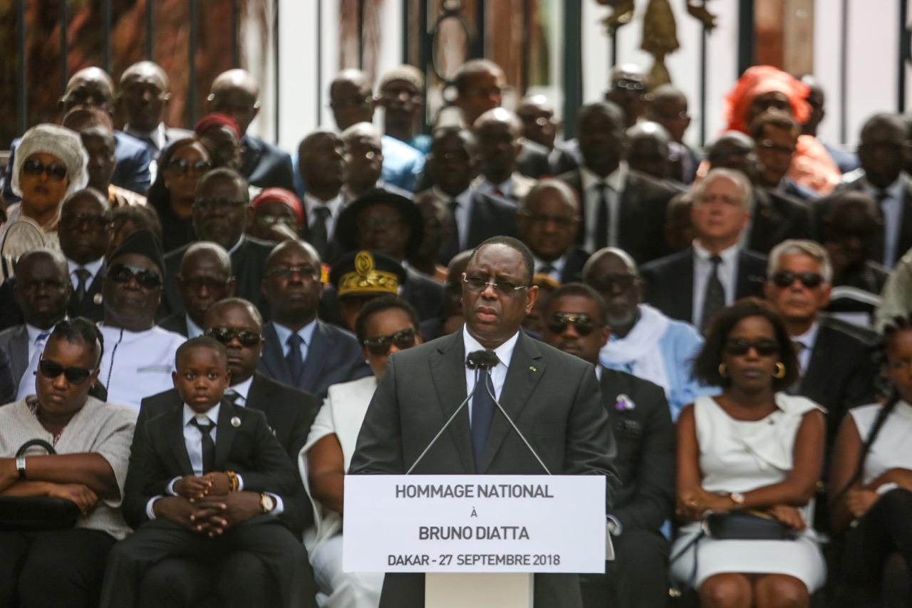 Cérémonie d'hommage national à la mémoire du ministre Bruno Diatta, Chef du service du protocole présidentiel : Oraison funèbre par le Président Macky Sall