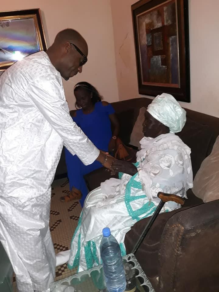 Barthélemy Dias rend visite à la mère de Khalifa Sall