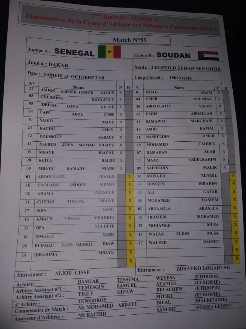 Sénégal vs Soudan / Tracasseries pour la presse : La feuille de match tardivement disponible, une couverture réseau désastreuse dans le stade
