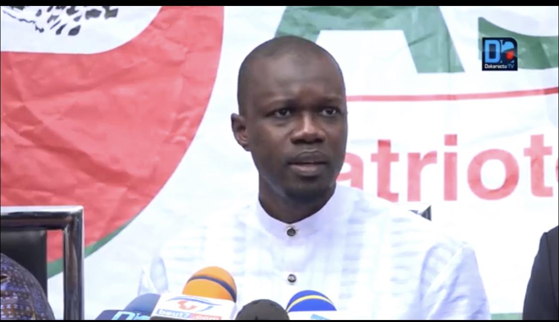 """Sonko avertit le régime :"""" S'il arrive quoi que soit à notre parti, Macky Sall et son gouvernement seront responsables"""""""