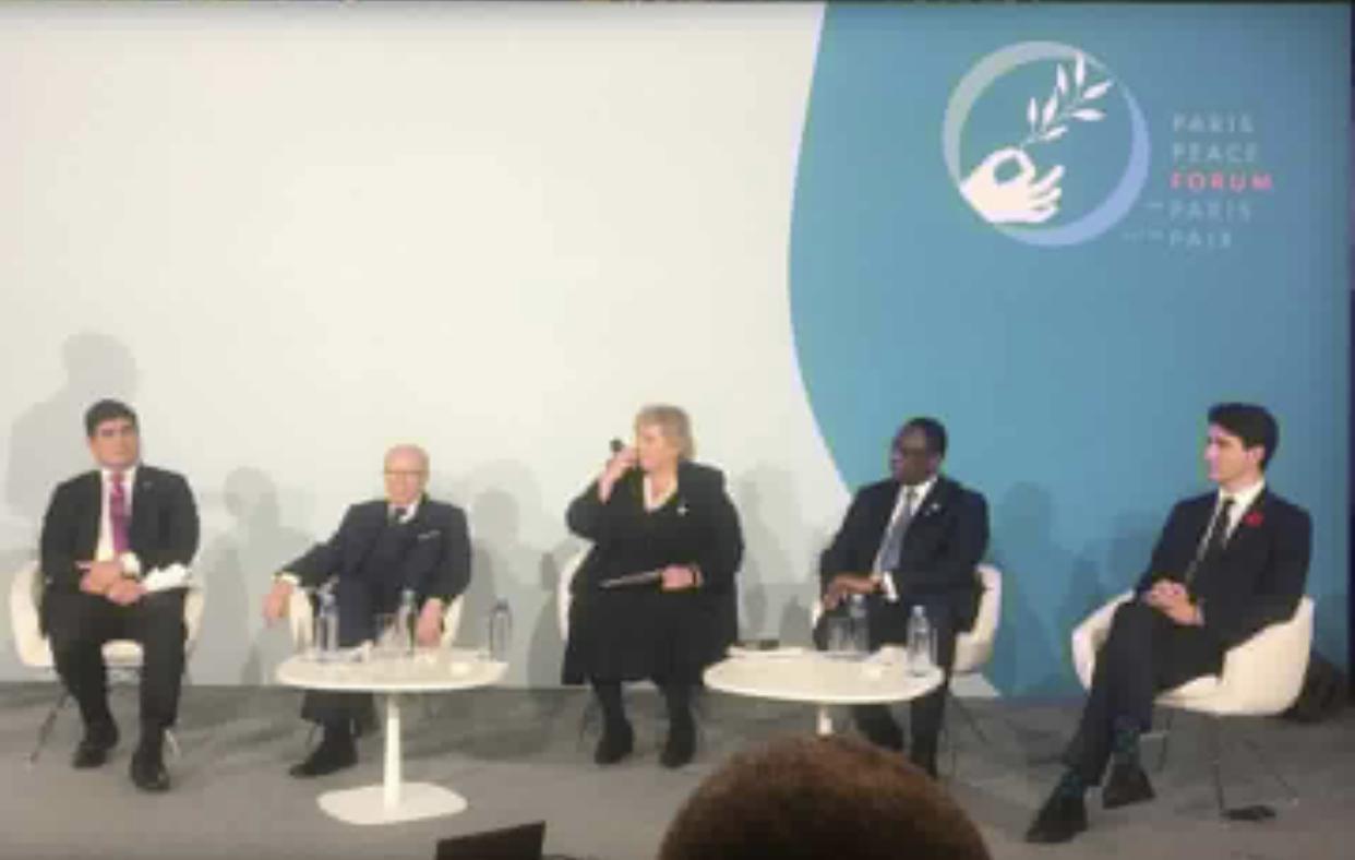 Déclaration conjointe des Chefs d'Etat ou Gouvernement issue du Panel sur la liberté de la presse au Forum de Paris sur la Paix