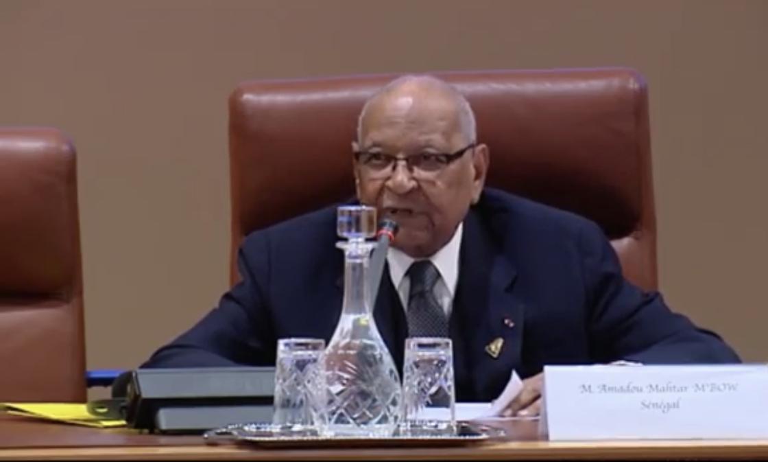 30 ANS DE L'INSTITUT D'ETUDES AFRICAINES DE L'UNIVERSITE  MOHAMED V DE RABAT : Discours de Amadou Mahtar Mbow