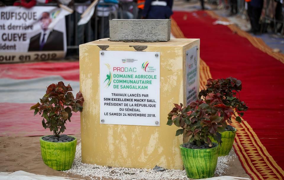 Pose 1ère pierre DAC de Sangalkam : « Une source d'emplois et de revenus incontestable pour la jeunesse » (HD Souleymane Ndoye, Président CD)