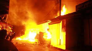 INCENDIE À DIOURBEL-  Le marché Ndoumbé Diop encore visité par les flammes