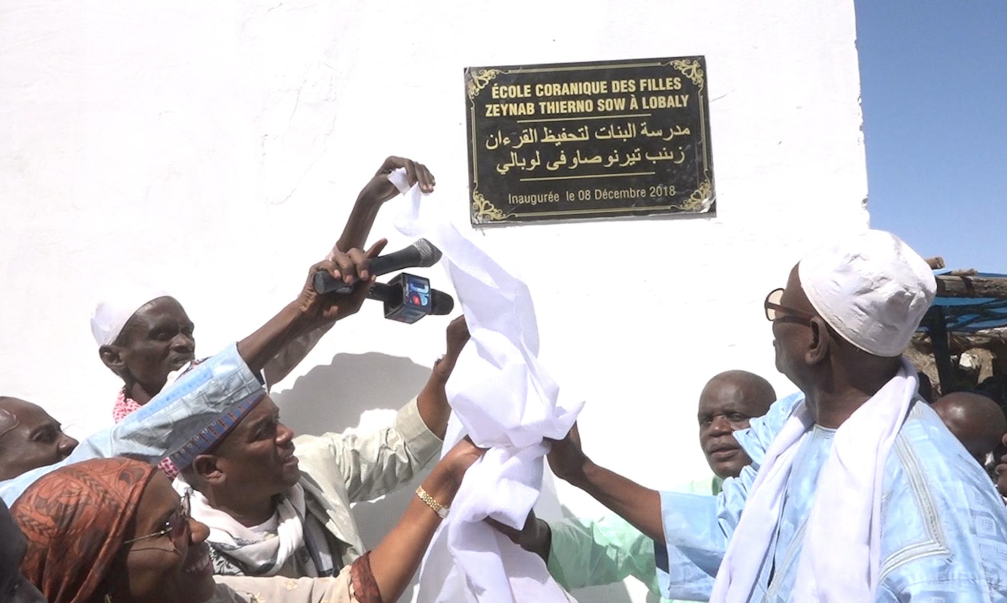 """Les images de l'inauguration de l'école coranique de filles """"Zeynab Thierno Sow"""" à Lobaly (Fouta)"""