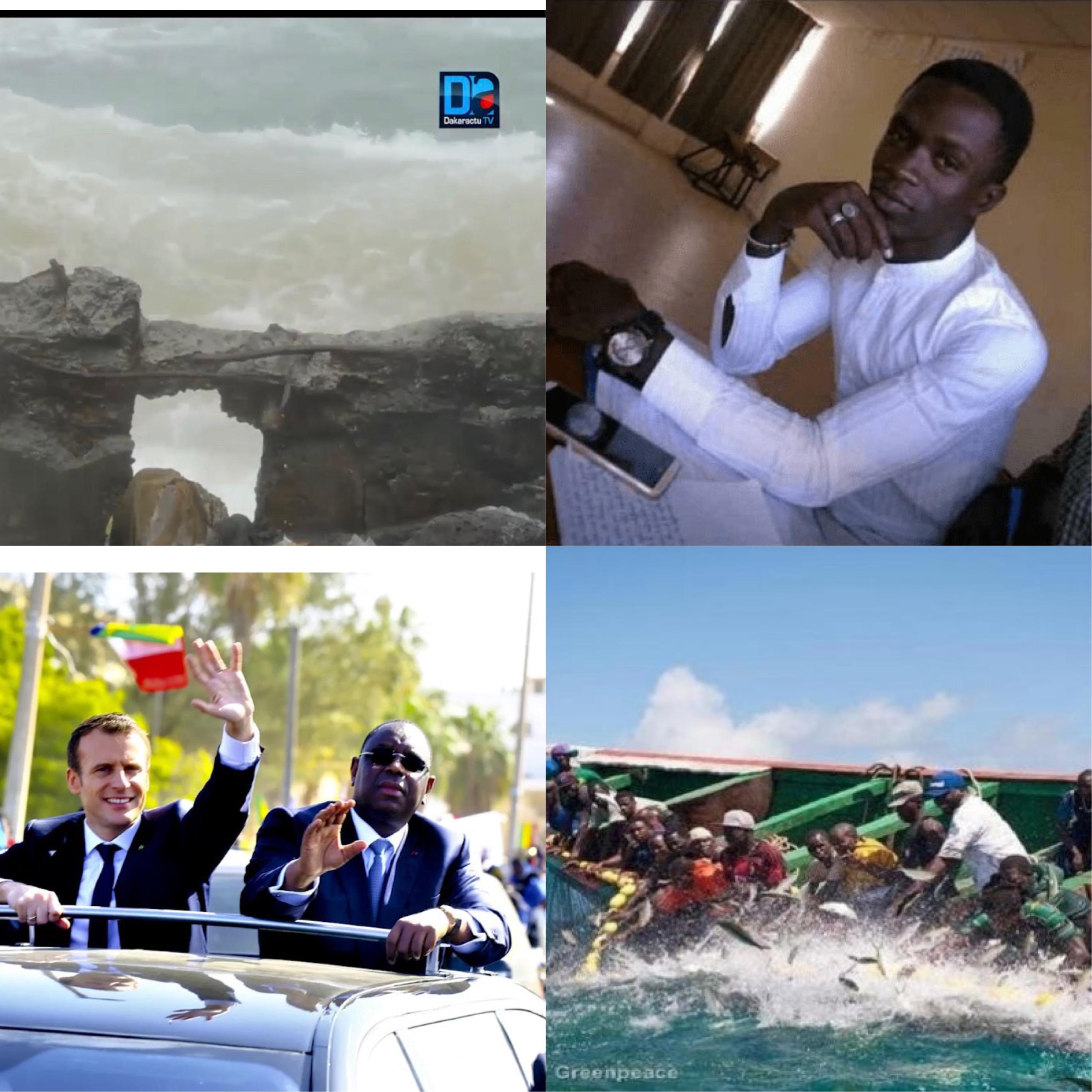 RÉTRO 2018  À SAINT- LOUIS : Mort de l'étudiant Fallou Sène, raz-de-marée, accidents au niveau de la brèche, visite d'Emmanuel Macron ….