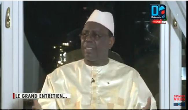 Macky Sall écarte toute possibilité de briguer un 3e mandat