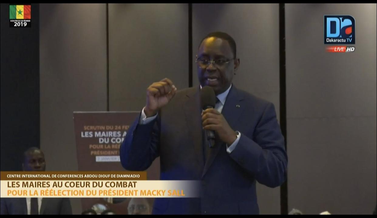 Présidentielle 2019 : Dopé par 530 maires du Sénégal, Macky Sall annonce : « le combat est fini! »