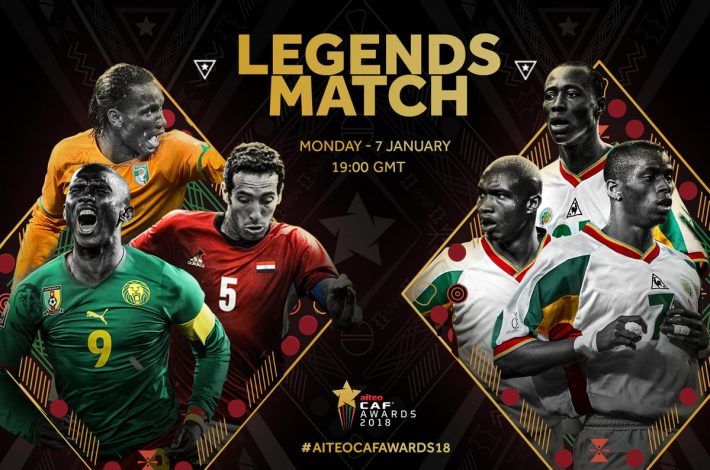 CAF Awards : Des légendes du football africain réunies pour un match de gala