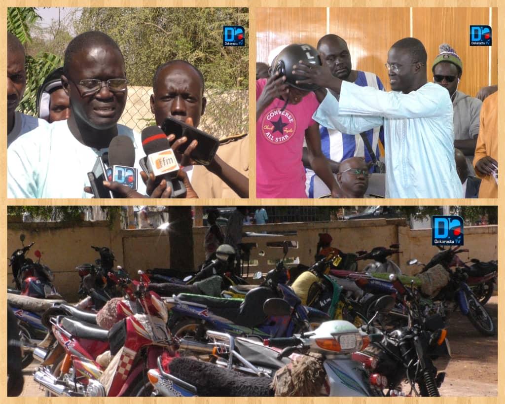 LINGUÈRE - Aly Fary Ndiaye dote de casques 100 conducteurs de mototaxis Jakarta