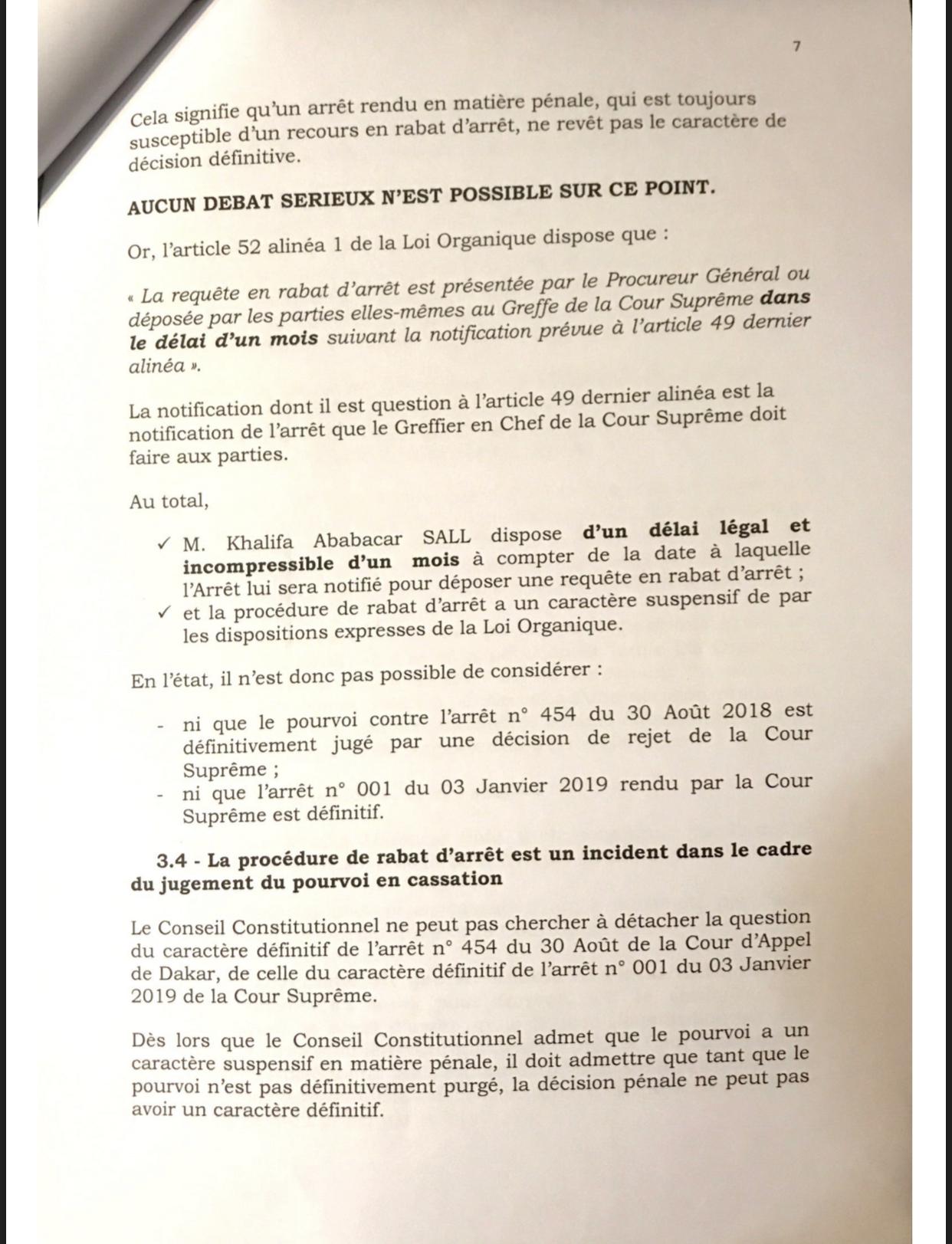 L'intégralité de la requête portant réclamation déposée auprès du Conseil Constitutionnel par le candidat à l'élection présidentielle Khalifa Ababacar Sall (DOCUMENTS)