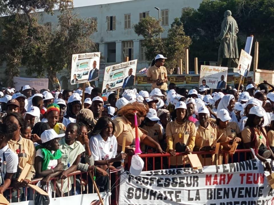 Campagne Présidentielle à Saint-Louis : les militants de Mary Teuw Niane se distinguent à l'accueil du candidat Macky Sall