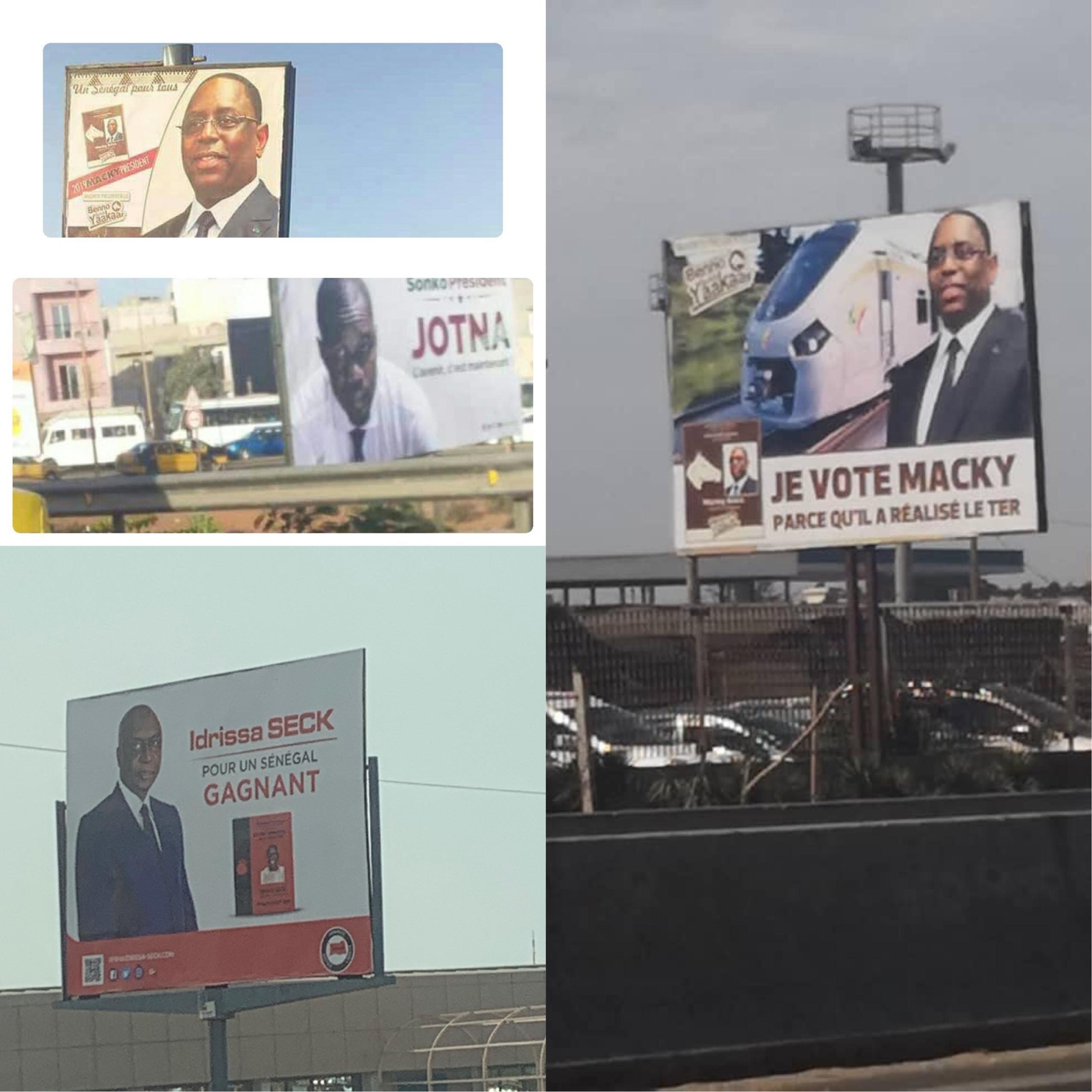 Campagne électorale : La guerre des affiches fait rage aussi à Dakar