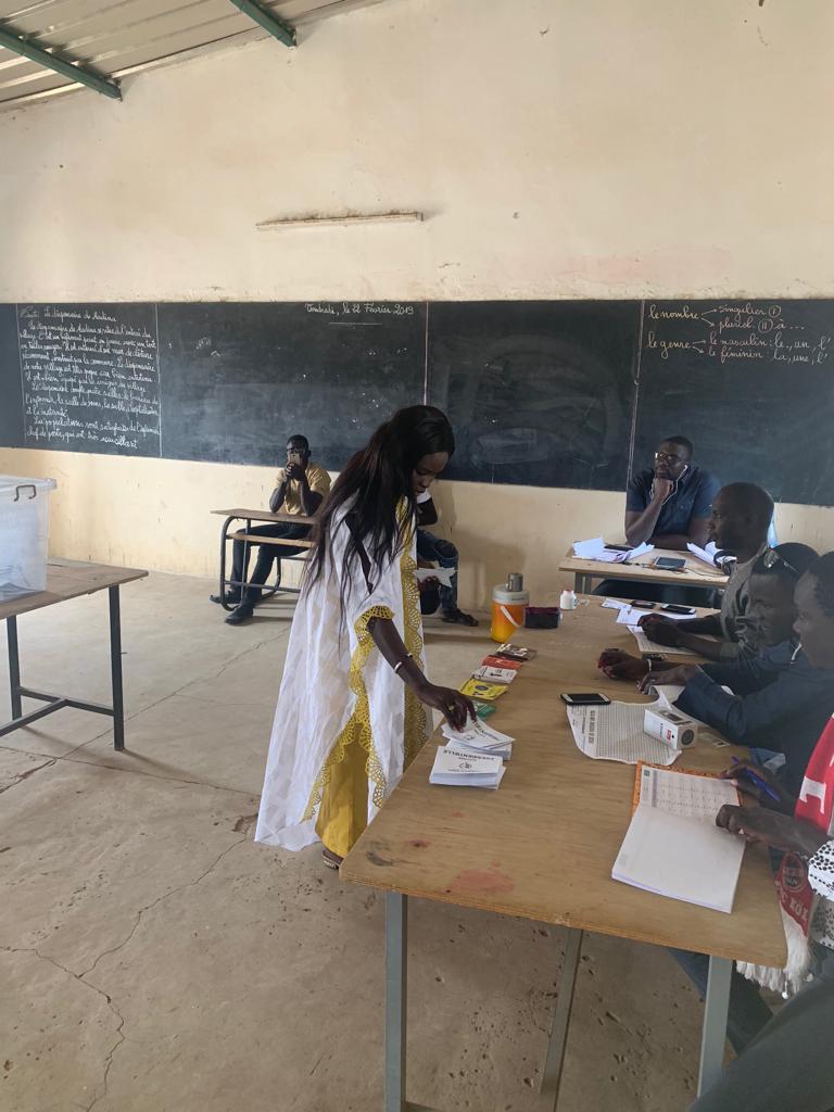 Présidentielle 2019 : Thérèse Faye Diouf a voté à Diarrère