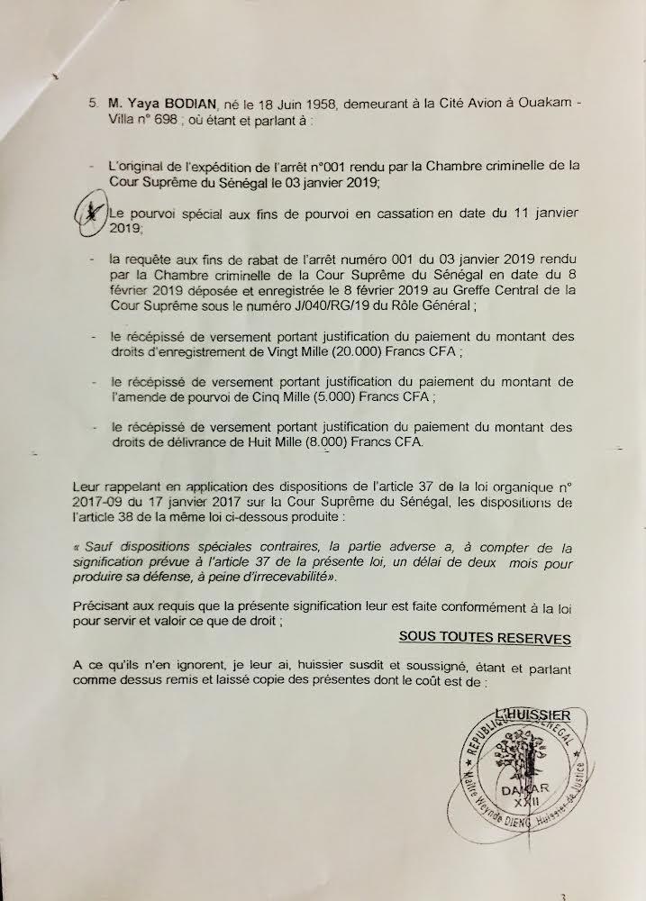 Affaire Khalifa Sall : La procédure de rabat d'arrêt en cours, l'État a jusqu'au 20 avril pour apporter ses réponses écrites.