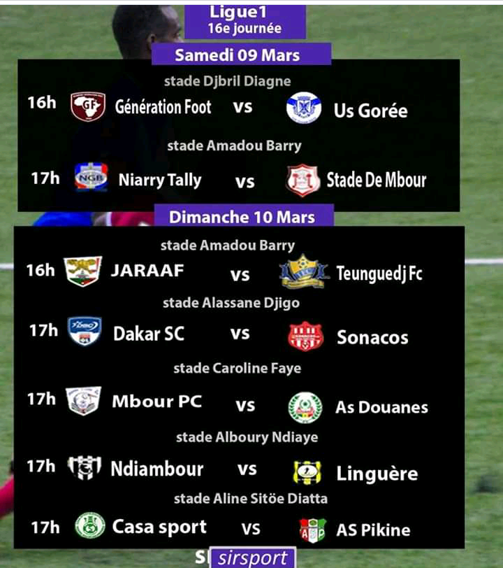 L1 16e Journée / Des affiches de choc pour la reprise : GF - Gorée, NGB - Stadevde Mbour ce samedi, Jaraaf - Teungueth FC, Casa - AS Pikine prévus dimanche