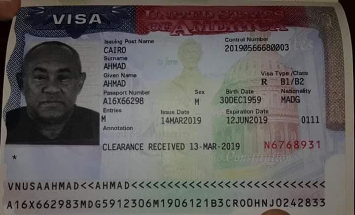 Le président de la CAF Ahmad obtient finalement son visa pour les États-Unis