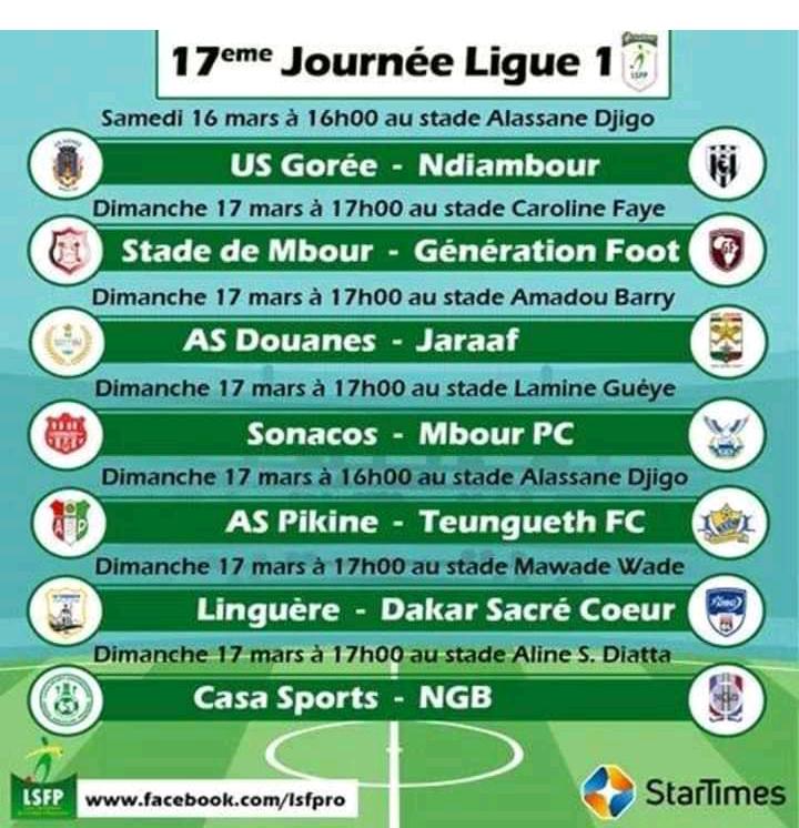 17e journée L1 : Duel au sommet AS Pikine - Teungueth FC, Casa Sports - NGB, le leader GF se rend à Linguère