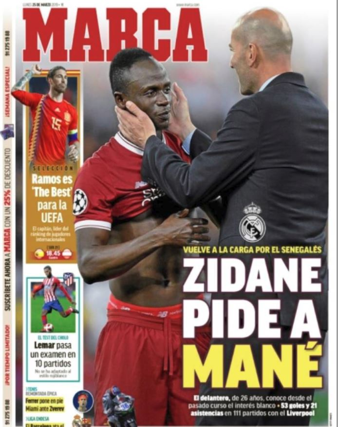 Real Madrid : Zinedine Zidane insiste pour Sadio Mané
