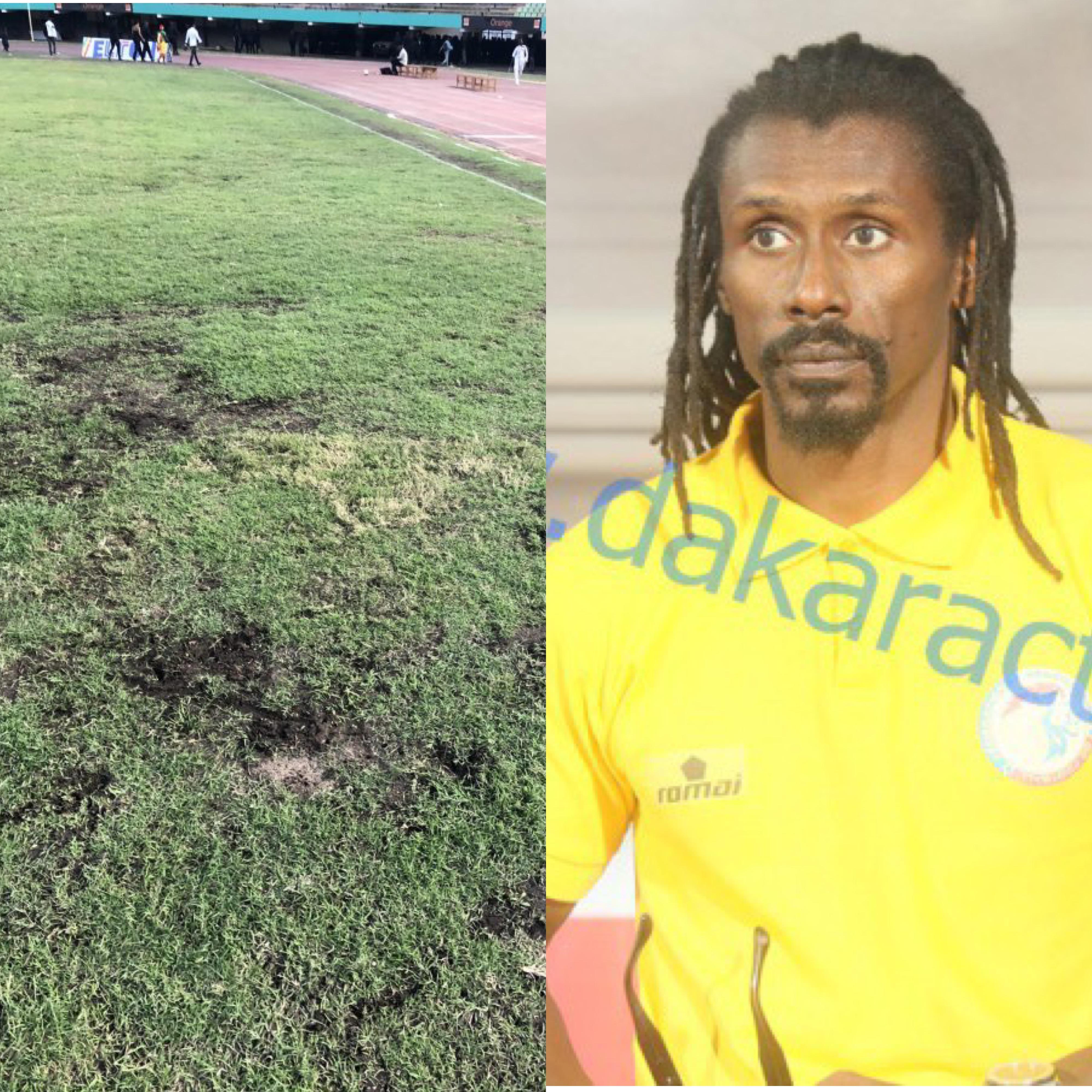"""Pelouse du Stade LSS / Aliou Cissé : """"La pelouse n'est pas bonne..."""""""