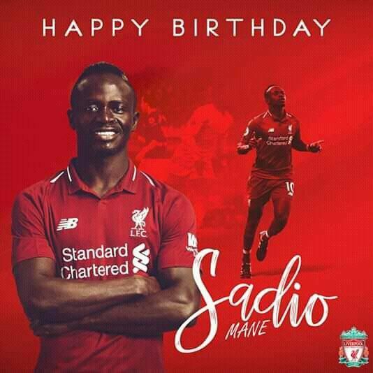 Sadio Mané fête ses 27 ans aujourd'hui !