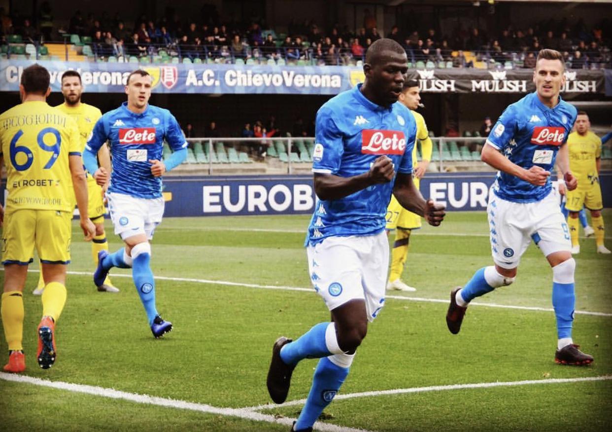 Serie A : Avec le premier doublé de sa carrière, Kalidou Koulibaly envoie Chievo Vérone en deuxième Division