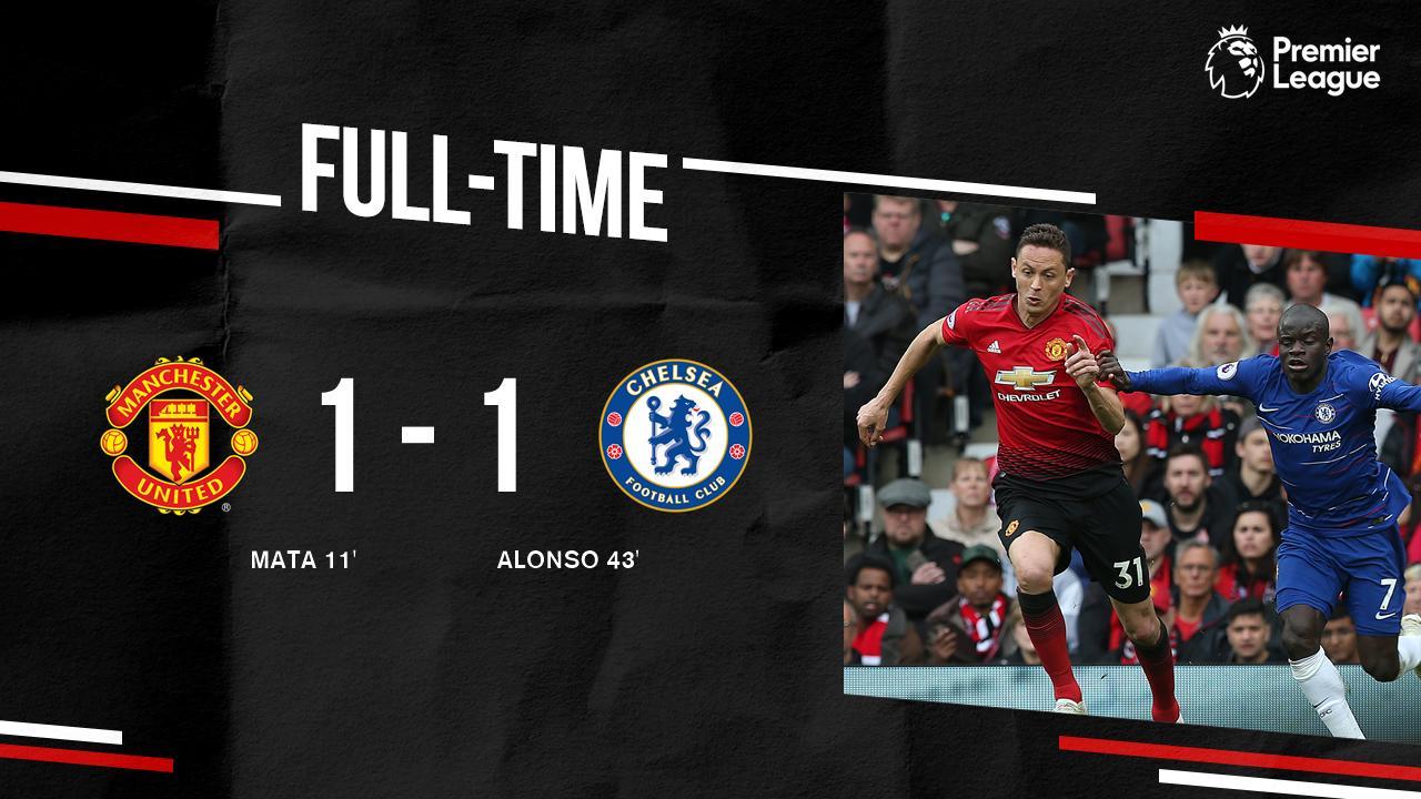 Football / Premier League : Manchester United et Chelsea se quittent sur un nul (1-1), à Old Trafford