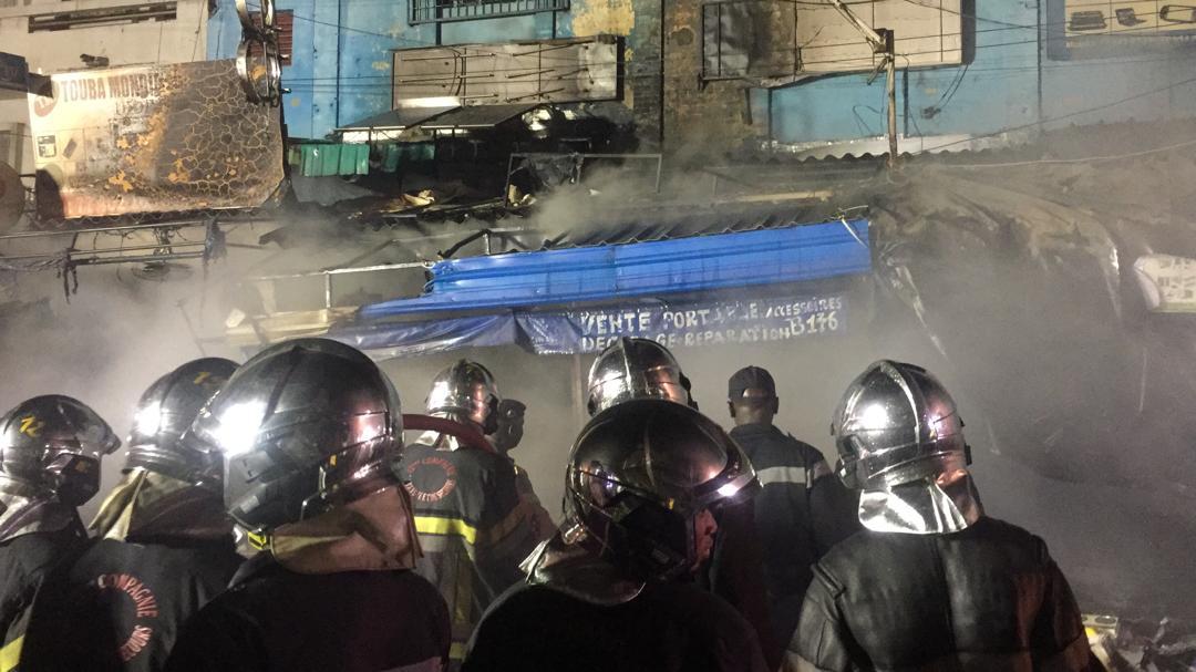 Incendie à sandaga : Près de 10 cantines consumées par le feu