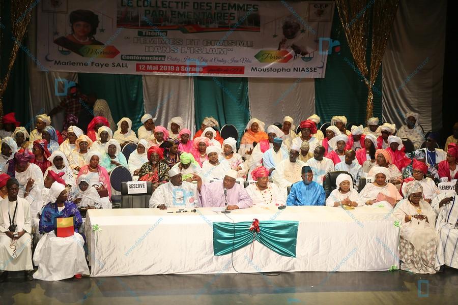 Les images de la Conférence religieuse du collectif des femmes parlementaires du Sénégal avec Iran Ndao et Oustaz Idrissa Diop