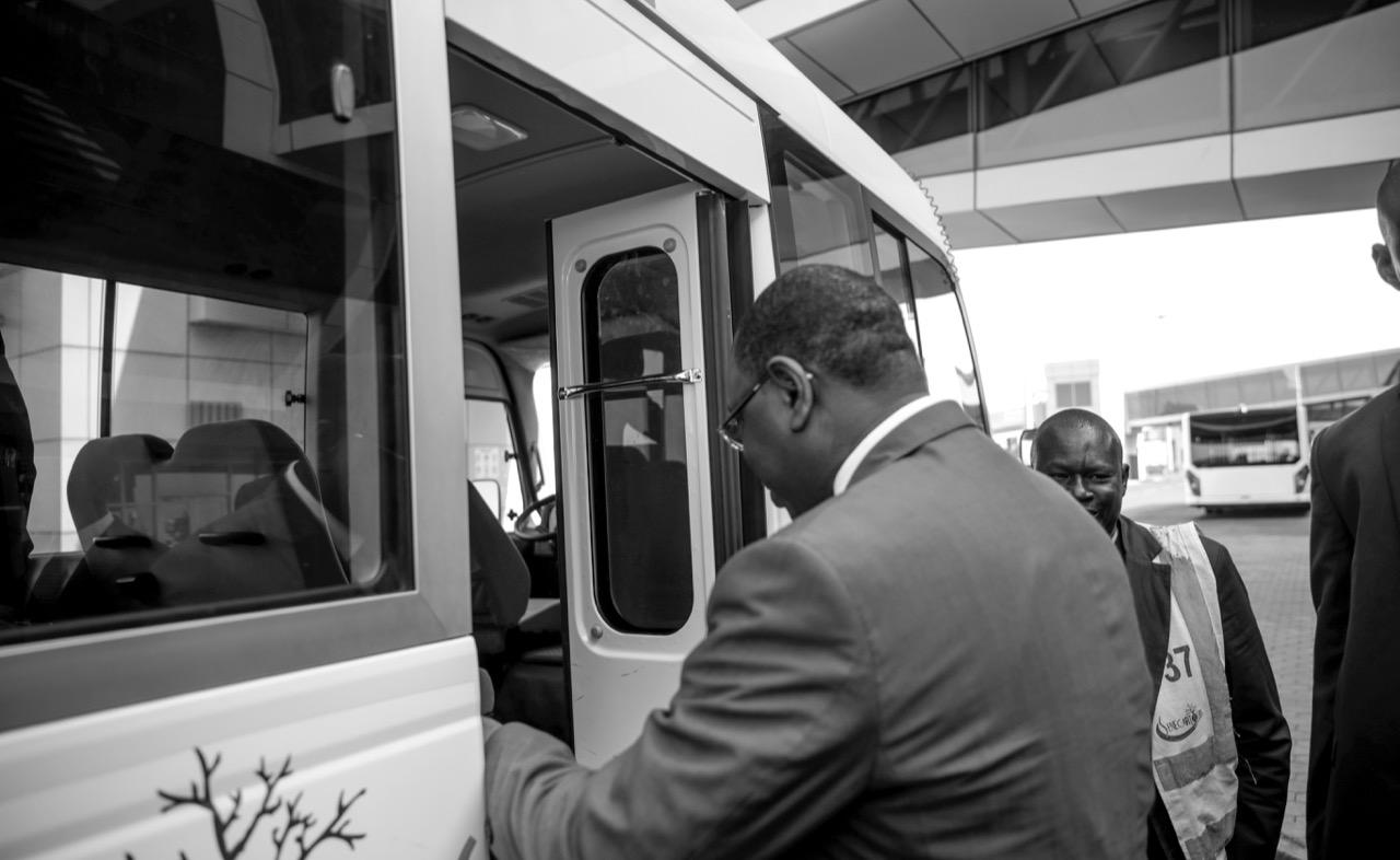 Le président Macky Sall a pris le vol Air Sénégal ce matin (Images)