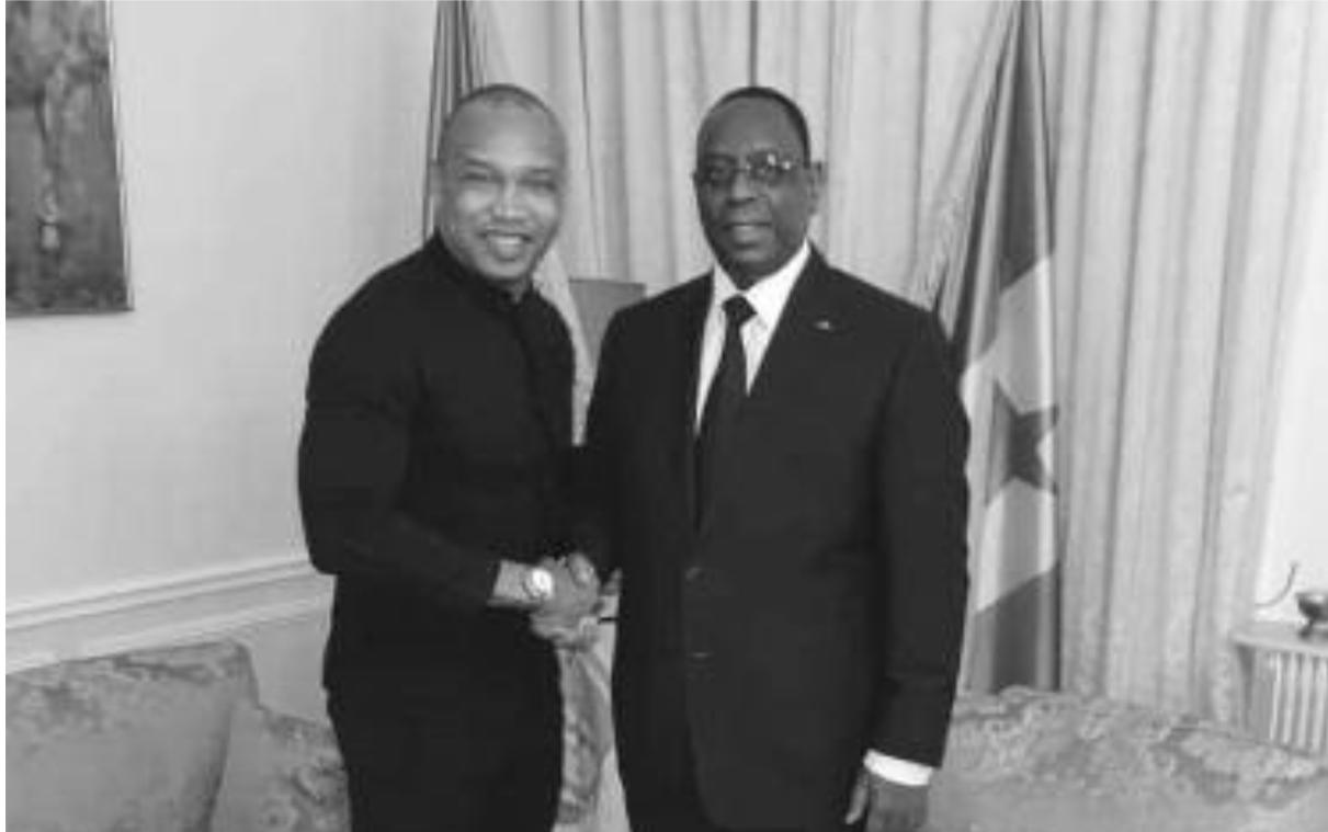 Le président Macky Sall reçoit El Hadj Ousseynou Diouf en audience à Paris