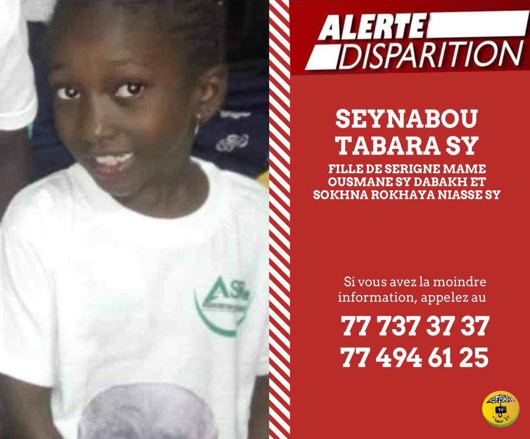ALERTE : La petite Seynabou Tabara Sy a disparu depuis hier