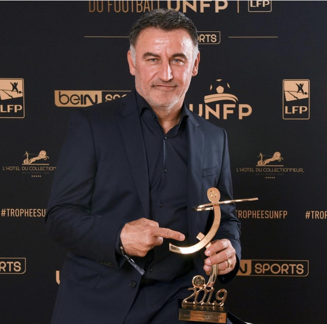 Trophée UNFP : L'entraîneur du Losc Christophe Galtier désigné meilleur coach de la saison