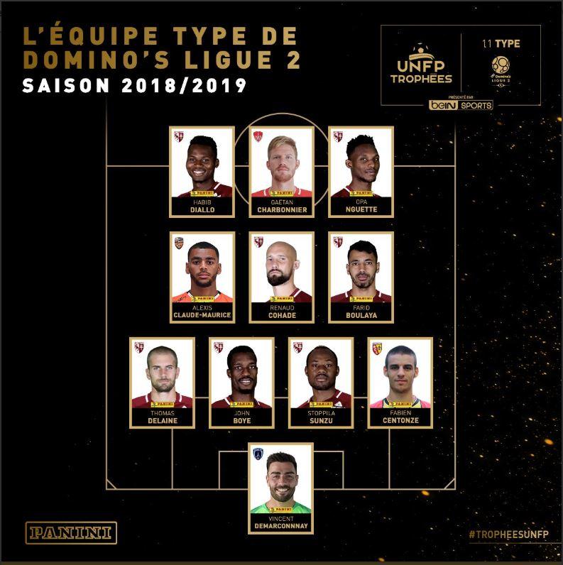Trophées UNFP : Opa Nguette et Habib Diallo dans l'équipe type de la Ligue 2
