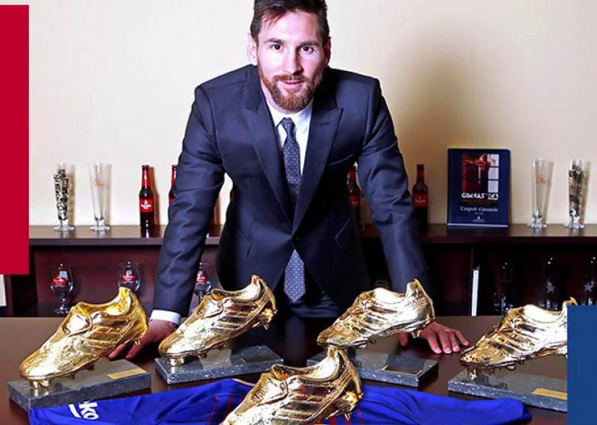 Lionel Messi remporte le soulier d'or 2018 / 2019 avec 36 buts.