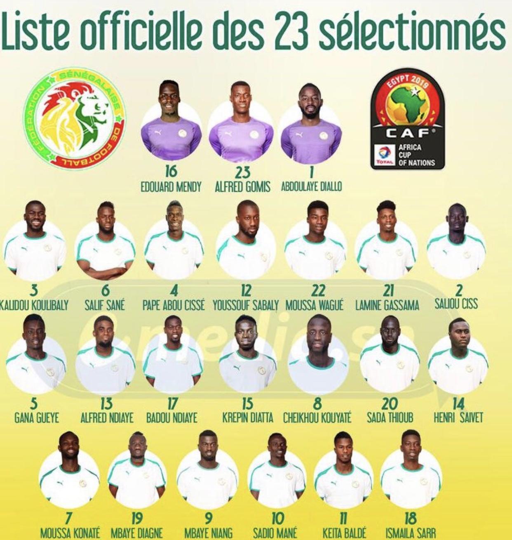CAN 2019 : Aliou Cissé a publié sa liste de 23 joueurs, Santy Ngom et Sidi Sarr retirés du groupe !