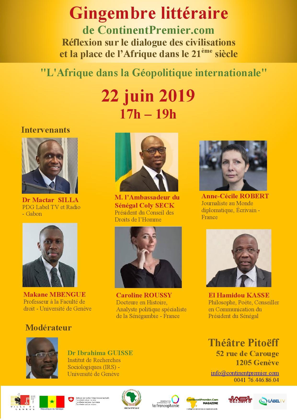 ISMAEL LO A GENEVE : Pour conclure en apothéose une grande réflexion sur la place de l'Afrique dans le 21ème siècle.