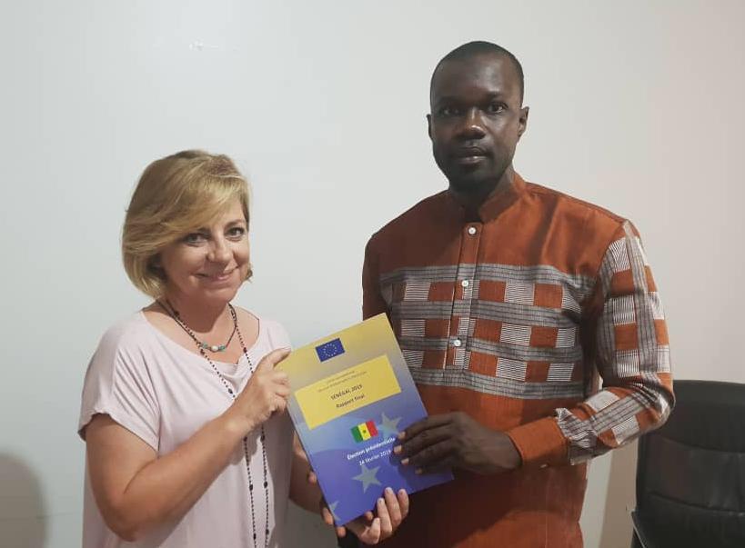 La mission d'observation des élections de l'Union Européenne (MOE-UE) a présenté son rapport à la coalition «Sonko Président»