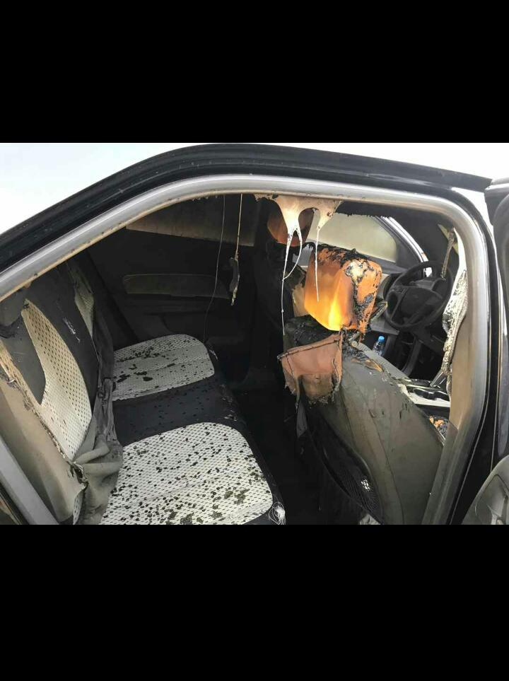 Thiénaba : Des personnes malintentionnées mettent le feu au véhicule d'un responsable du Parti Pasteef, Les Patriotes.