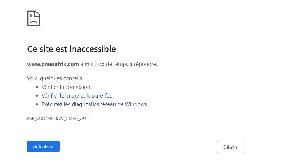 PressAfrik.com : « Une grave attaque » bloque le site