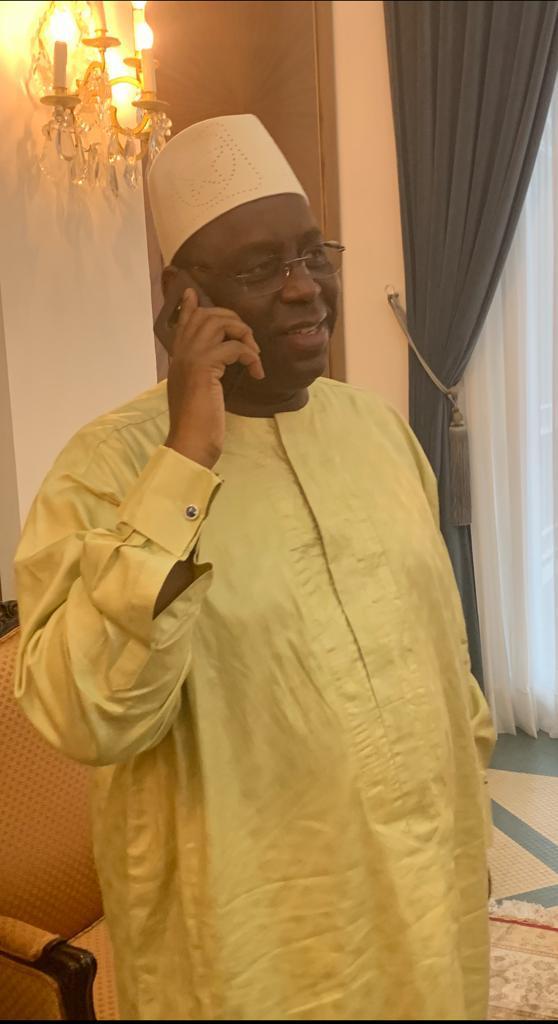 CAN 2019 :  Après la victoire du Sénégal contre la Tanzanie, Macky Sall a appelé Aliou Cissé pour le féliciter