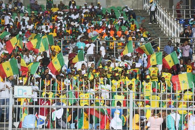 Sénégal – Ouganda : Les supporters du 12e Gaïndé se chauffent au moment de l'échauffement des joueurs