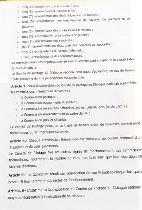 Conduite du dialogue national : Le président Macky Sall crée un comité de pilotage dirigée par une personnalité nommée par Décret. (DOCUMENT)