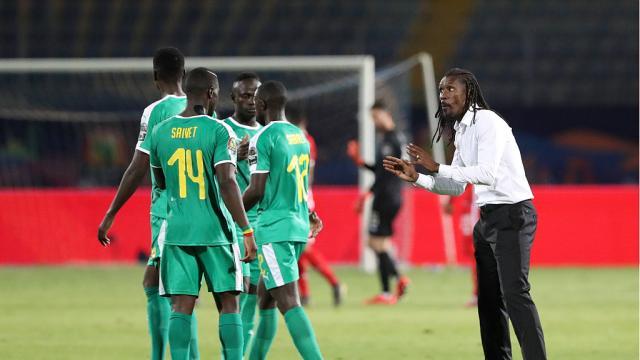 Demi-finale CAN 2019 / Le Sénégal mène par 1 but à 0 contre la Tunisie.