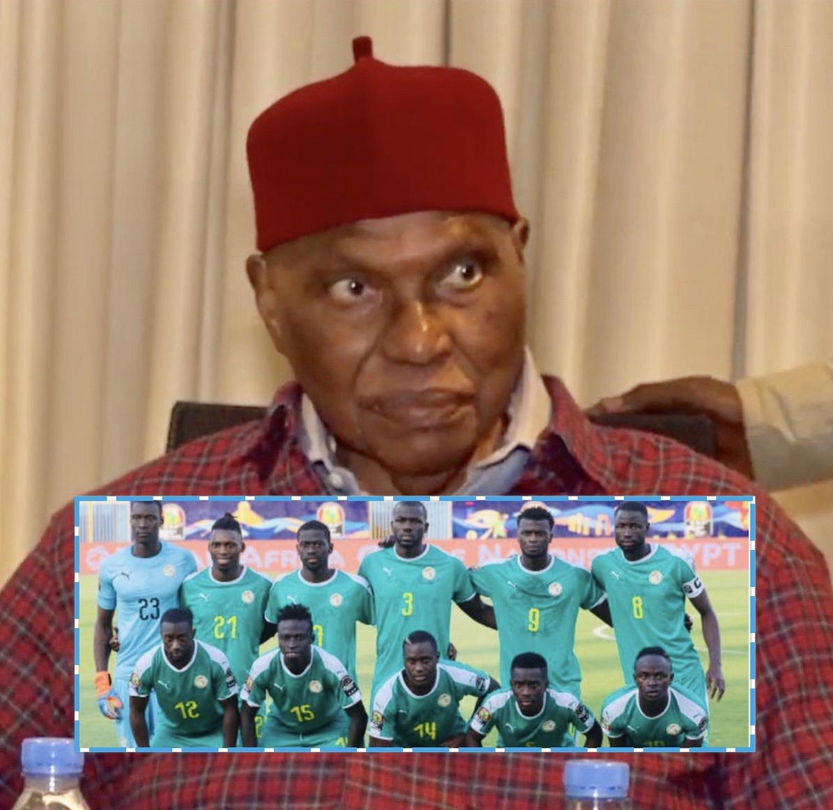 Le président Abdoulaye Wade galvanise les Lions : «Je vous vois déjà victorieux...»