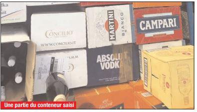 PORT DE DAKAR : Des bouteilles de whisky et de vin de contrebande saisies