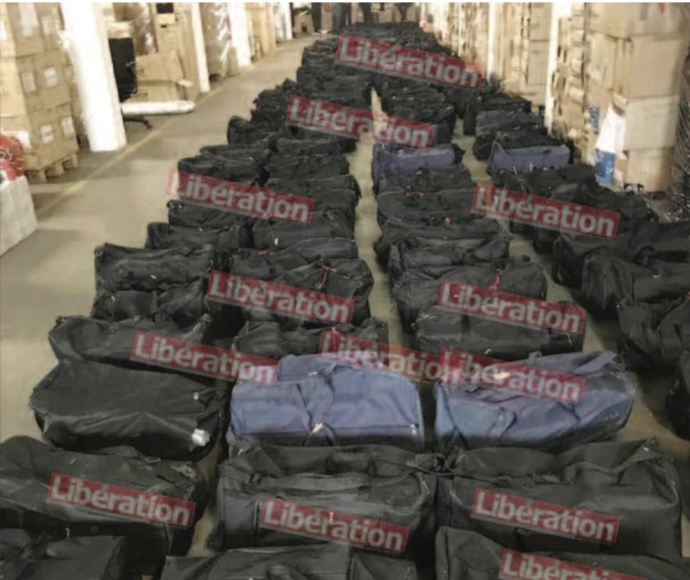 Prolongations internationales de l'affaire de prise record de drogue à Dakar : 4,5 tonnes de cocaïne saisies sur un navire de Grimaldi à Hambourg.