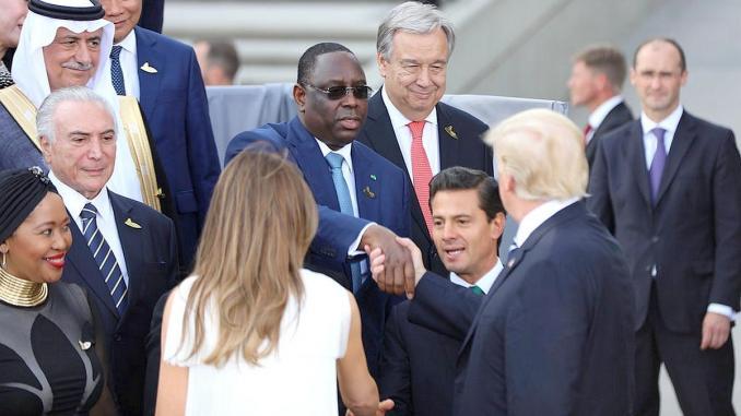 Que fait le président Macky SALL à BIARRITZ ?