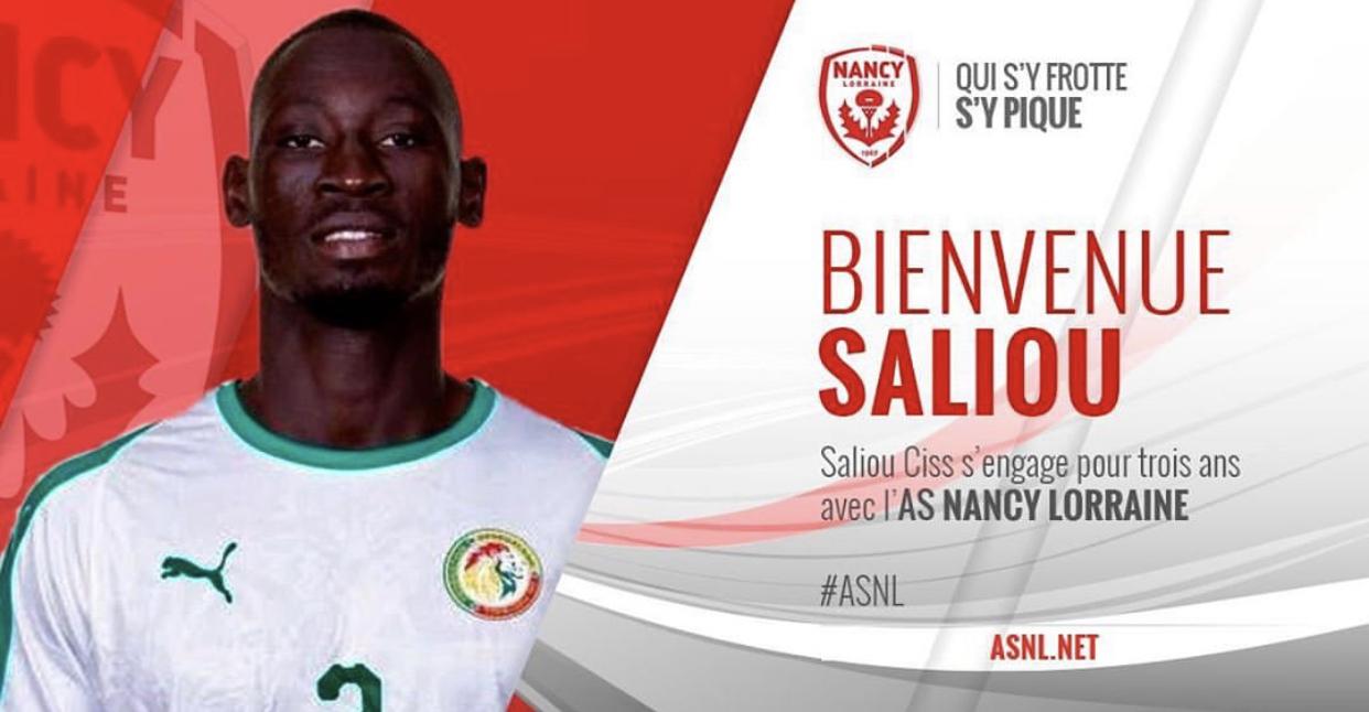 Transfert : Saliou Ciss, s'engage pour 3 ans avec l'AS Nancy (L2)
