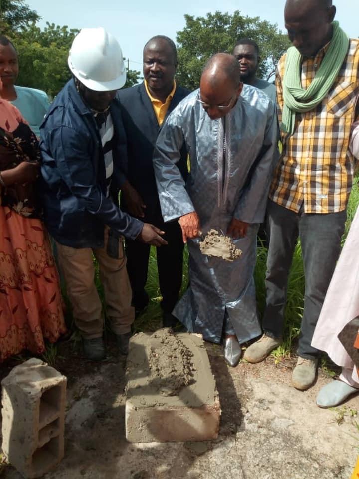 KOLDA : Pose de la pierre pour la construction du musée du Fouladou.
